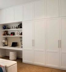 built in wardrobe and desk