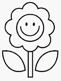 Flower Coloring Pages Kids For Bulletin Board Free Printable 20652