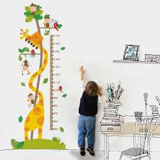 Lyanther Kids Growth Chart Children Height Chart Growth Wall Chart Height Wall Chart Art Hanging Rulers For Kids Bedroom Nursery Wall Decor Removable