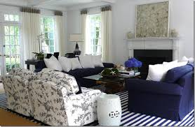 Coastal Navy And White Living Room  A Very Welcoming And Relaxing Navy Blue Living Room Chair