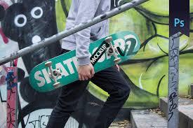 Layered psd with smart object insertion license: 15 Beautiful Skateboard Mockup Psd Templates Mockuptree