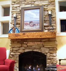 top rustic fireplace