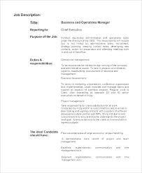 Job Responsibilities Of A Chef Sample Description Template