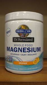 garden of life dr formulated whole food magnesium orange 14 8oz 658010122788