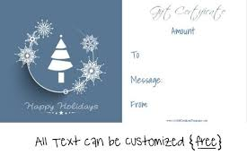 Holiday Gift Card Template Free Editable Christmas Gift Certificate Template 23 Designs