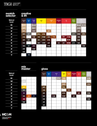 Tigi Copyright Colour Swatch Chart In 2019 Hair Color
