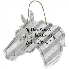 corrugated metal signs horse