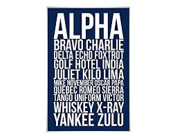 This phonetic alphabet airplane art is perfect for any aviation enthusiast, student pilot, or seasoned aviator. Amazon Com Alpha Bravo Charlie Art Print 60 Colours 6 Sizes Phonetic Alphabet Poster Aviation Nato Military Pilot Airplane Army Handmade