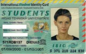 Col isic Card Rtu lv-isic-002 Identification Latvia Functional Isic Cards personal