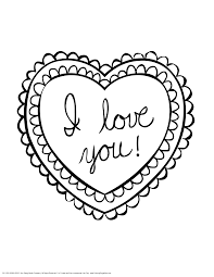 Heart Coloring Pages For Teenagers Love You Heart Valentine 8575