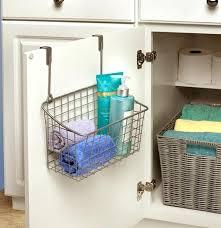 over the door basket organizer over the cabinet door basket nickel in cabinet door closetmaid over