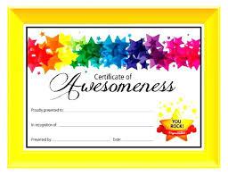 Printable Award Certificates Free Kids Certificate Templates Inside
