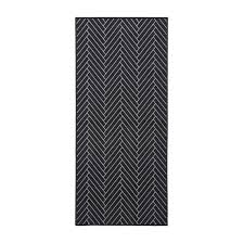 herringbone rug runner black light grey
