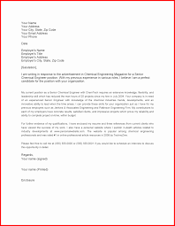 Chemical Engineering Covering Letter Ideas Cover Job Application