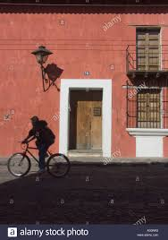 Colonial Spanish buildings facades painted with bright colors in the heart  of the historic city