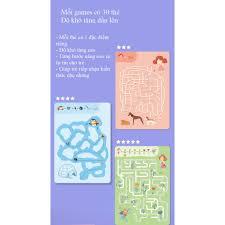 MIDEER [TẶNG KÈM BÚT CHÌ] Mini Game 3 chủ đề - Mê Cung - Nối Điểm và Tô màu  số giá cạnh tranh