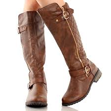 Forever Link Women's MANGO-21 Quilted Zipper Accent Riding Boots ... & Forever Link Women's MANGO-21 Quilted Zipper Accent Riding Boots, Brown, ... Adamdwight.com