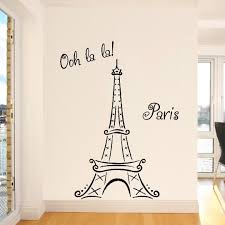eiffel tower wall art sticker