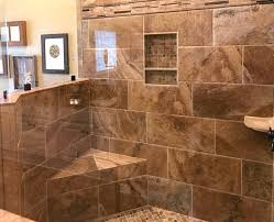 glass and tile shower stall