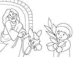 Small Picture Palm Sunday Coloring Page Coloring Book