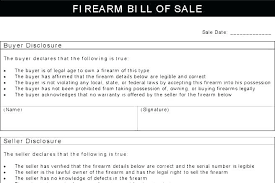 Firearms Bill Of Sale Florida Firearms Bill Of Sale Template Awesome How To Fill In Rifle