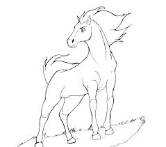 free spirit horse coloring pages printable