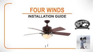 four winds ceiling fan installation guide