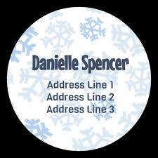 Charming Snowflake Address Labels Label Templates Ol224