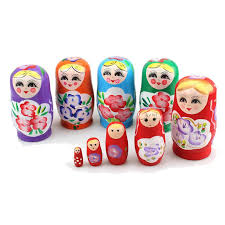 novelty russian nesting wooden matryoshka doll set hand painted decor russian nesting dolls baby toy girl doll whole aijile 18 inch girl dolls clothes