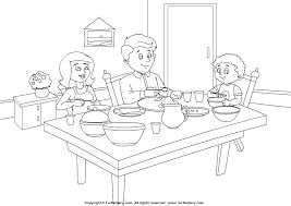Small Picture Dining room coloring page magielinfo
