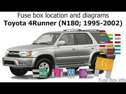 96 Toyota 4runner Wiring Diagram Chevy Silverado Radio