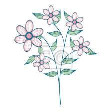 Fototapeta Naturals Kytky Tetování Ikonu Vektorové Ilustrační Výprava Kreslený