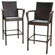 set 2 stewart outdoor brown wicker barstool outdoor bamboo bar stools