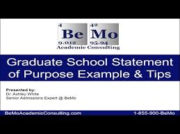 Examples Of Statement Of Purpose Statement Of Purpose Examples For Graduate School Bemo