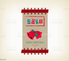 Vintage Buon Natale E Felice Anno Nuovo Banner - Immagini vettoriali stock  e altre immagini di Agrifoglio - iStock