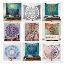 hippy mandala tapestry bohemian elephant tapestry wall hanging psychedelic wall art dorm decor beach throw indian wall tapestries tree of life tapestry wall