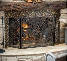 ornate fireplace screens ornate fireplace screen 3 panel iron metal scroll gilt gold black elegant hearth