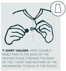 hide a mic t shirt holder microphone concealer for the sanken back t shirt holder single ham signal jacket