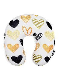 <b>Подушка</b> дорожная для шеи, серия Art Moments, дизайн Hearts ...