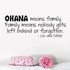 Quote Definition Extraordinary New OHANA MEANS FAMILY Warm Quote Family Definition Home House Decal