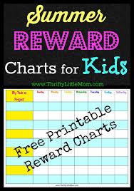 Free Printable Summer Reward Chart For Kids Reward Chart