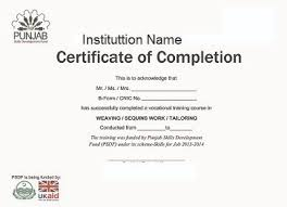 Sample Certificate Of Course Completion Free Download