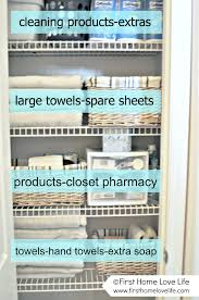 here s how i organized my master bathroom linen closet init