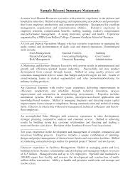 Sample Resume Summary Statement Resume Summary Statement Samples Resume Summary Statement Examples 2