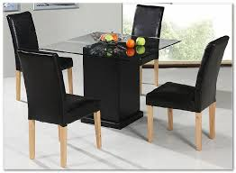 black beauty home dining room 4 seater