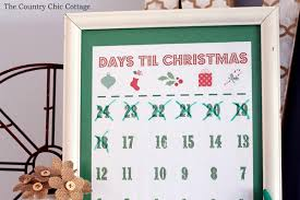 Calendar Countdown Days Printable Christmas Countdown Calendar The Country Chic Cottage