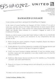 Complaint Letter Sample Lost Luggage Sample Customer