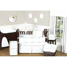 sweet jojo designs sweet designs dot 9 piece crib bedding set in white sweet jojo designs