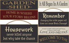 home and garden wood signs