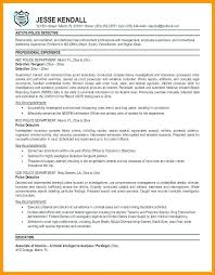 Police Officer Resume Examples Police Officer Resume Templates